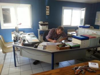 Didier en plein travail